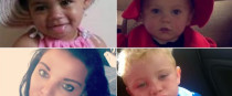 Annemarie O'Brien (bottom left), her daughter Paris (top left) and her niece and nephew Holly and Jordan all died in the fire in March 2017.