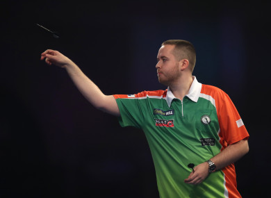 Steve Lennon during day six of the William Hill World Darts Championships at Alexandra Palace.