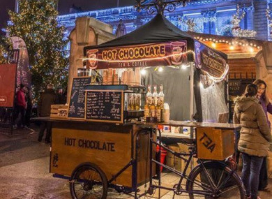 Hot chocolate on sale at the Belfast Christmas Market.