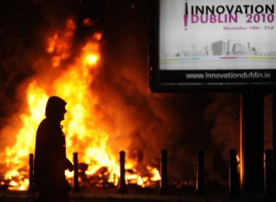 A bonfire on Dublin's Sheriff Street.