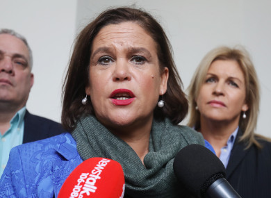The poll does not bring good news for Mary Lou McDonald