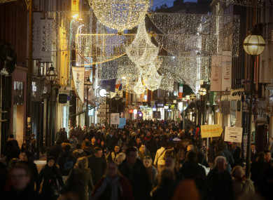 Christmas shoppers on Dublin's Grafton Street.