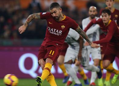Aleksandar Kolarov steps up to take his penalty against Inter