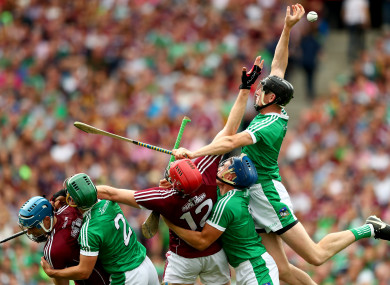 Limerick and Galway players battle during August's epic All-Ireland decider.