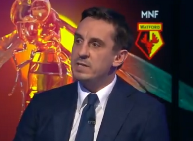 Gary Neville discussed a conversation he had with Sterling about treatment from fans and media on Monday night.