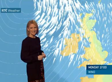 Met Éireann forecaster Joanna Donnelly