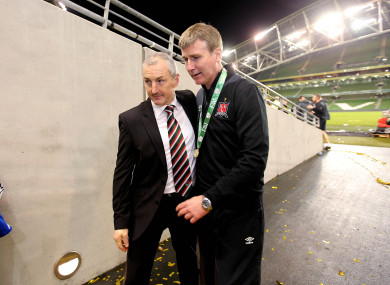 John Caulfield with Stephen Kenny in 2015.