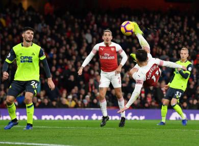 Lucas Torreira scores for Arsenal