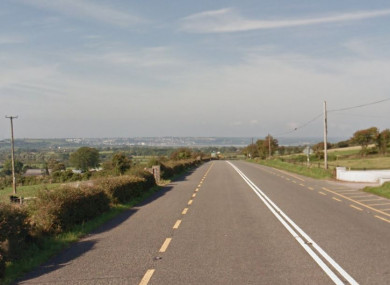 A stretch of road along the N25.