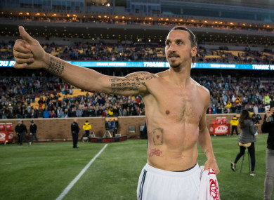 Zlatan Ibrahimovic enjoyed a successful first season with LA Galaxy.