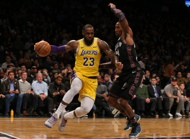 LeBron James in action against the Brooklyn Nets.