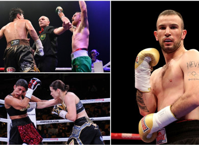 John Joe Nevin, Katie Taylor and Dennis Hogan all take to the ring in separate parts of the world this Saturday.