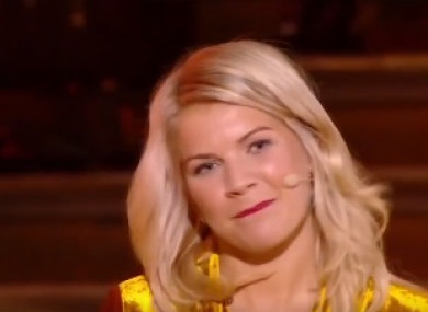 Hegerberg was visibly unimpressed by DJ Martin Solveig's question