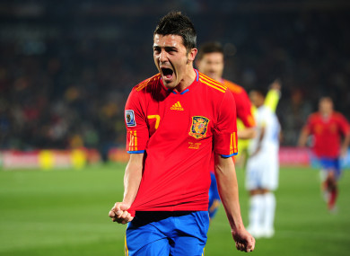 Villa was integral as Spain secured the 2010 World Cup in South Africa.