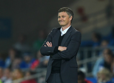 New Manchester United manager Ole Gunnar Solskjaer.