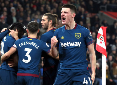 Declan Rice impressed again last night.