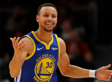 Golden State Warriors star Stephen Curry.