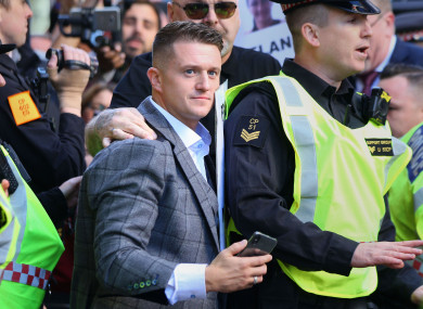 One of the rallies is backed by former English Defence League leader Tommy Robinson
