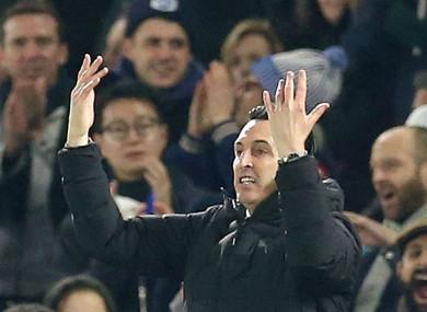 Arsenal boss Unai Emery.