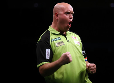 Darts star Michael van Gerwen.