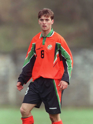 Boland during an Ireland U21 international game in 1997.