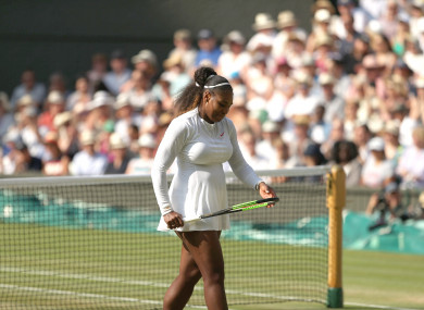Serena Williams in action at Wimbledon in July.