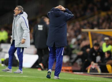Chelsea's manager Maurizio Sarri.