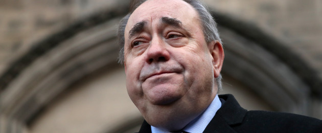 Salmond pictured earlier this month.