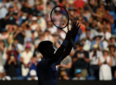 Novak Djokovic at the Australian Open.