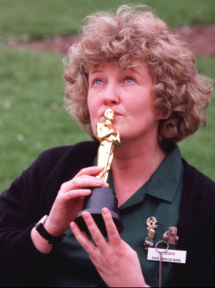 Brenda Fricker, who won a Best Supporting Actress award in 1990.