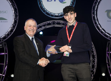 County Westmeath student Charlie Drumm was the winner of the Teagasc award at BT Young Scientist and Technology Exhibition 2019.