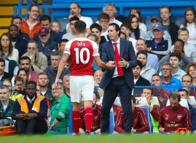 Mesut Ozil is subbed against Chelsea earlier in the season, setting the tone for what came next.