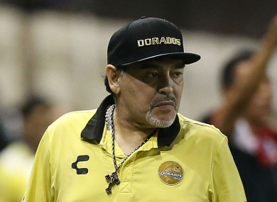 Diego Maradona is coaching in Mexico at the moment.
