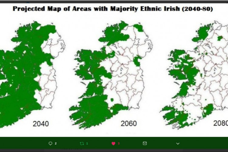 Map Of Ireland 2050.Factcheck Does This Tweet Show The Decline Of The Ethnic Irish