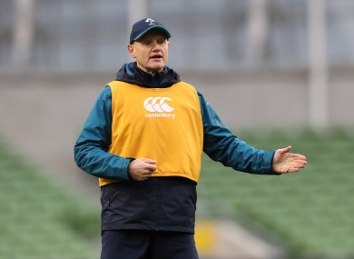 Schmidt at training in the Aviva.