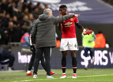 Mourinho and Paul Pogba endured a difficult working relationship.