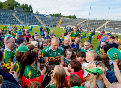 Kieran Donaghy with Kerry after last August's game against Kildare.