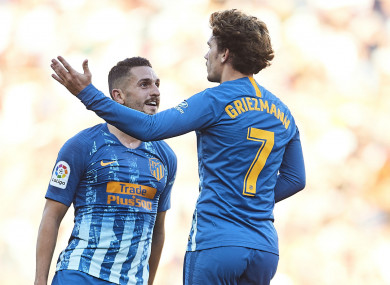 Atletico Madrid duo Koke and Antoine Griezmann