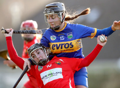Tipperary's Laura Loughnane and Amy O'Connor of Cork.