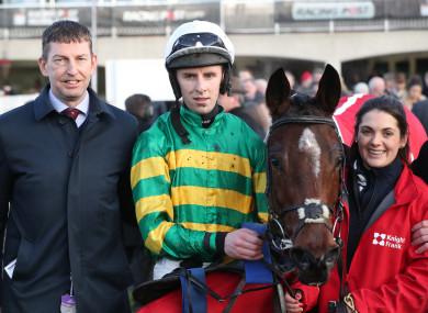 Gavin Cromwell with Espoir D'allen and jockey Mark Walsh.