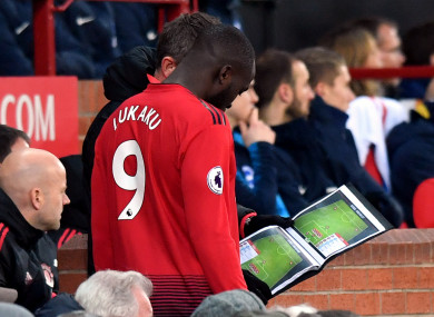 Romelu Lukaku has yet to start a league game under Ole Gunnar Solskjaer.