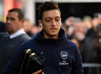 Arsenal playmaker Mesut Ozil.