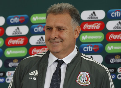 Gerardo Martino is presented as the new coach of Mexico's national team.