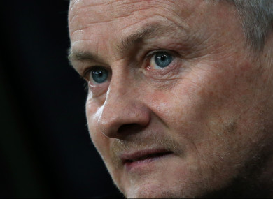 The Manchester United caretaker boss.