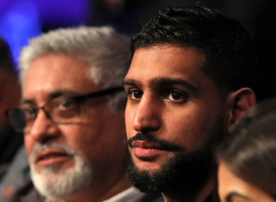 Amir Khan at the Oleksandr Usyk v Tony Bellew fight.