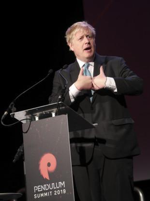 Conservative MP Boris Johnson at Dublin's Pendulum Summit.