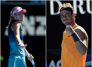 Contrasting fortunes for Angelique Kerber and Rafael Nadal.