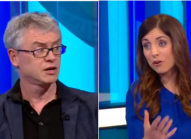 Joe Brolly and Joanne Cantwell on last night's edition of Allianz League Sunday.