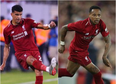 On the move: Dominic Solanke and Nathaniel Clyne.