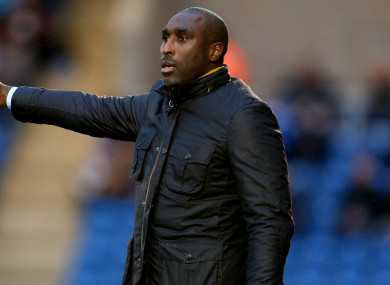 Macclesfield Town manager Sol Campbell.